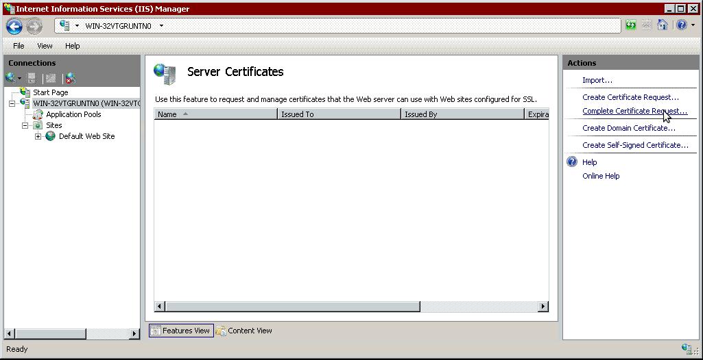 Установка сертификата openssl на internet information services курсы создание сайтов продвижение